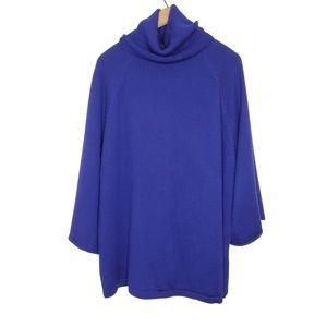 Eileen Fisher Royal Purple Merino Wool Sweater 1X